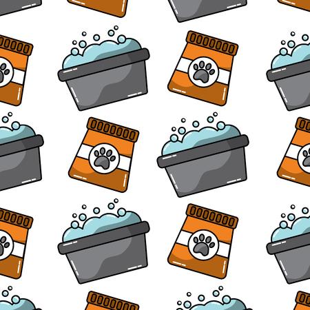 tub and food pet pattern image vector illustration design  Ilustração