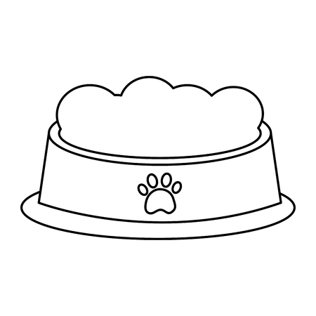food bowl pet icon image vector illustration design