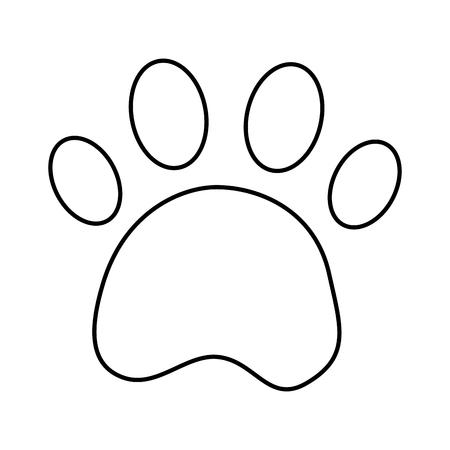 paw print pet icon image vector illustration design