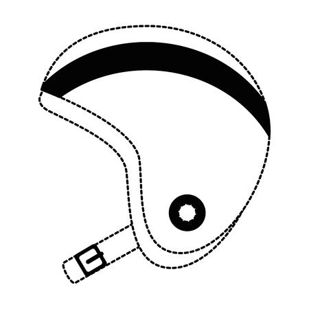 motorcycle helmet classic icon vector illustration design Illusztráció