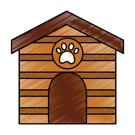 애완 동물 집 아이콘 이미지 벡터 일러스트 디자인