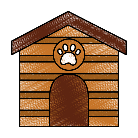 pet house  icon image vector illustration design  Çizim