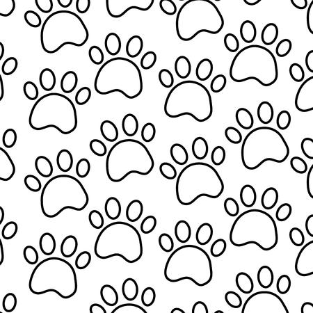 발 애완 동물 패턴 이미지 벡터 일러스트 레이 션 디자인 일러스트