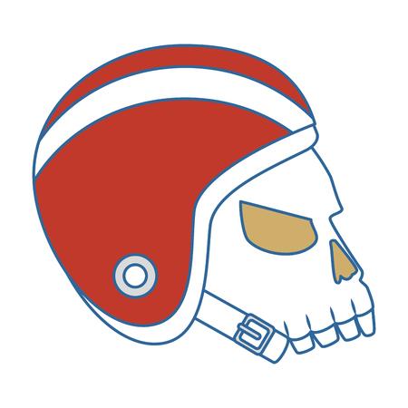 extreme skull with helmet vector illustration design