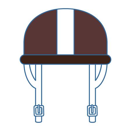 오토바이 헬멧 클래식 아이콘 벡터 일러스트 디자인