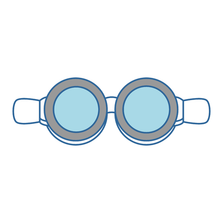 biker goggles isolated icon vector illustration design Stock Vector - 92280725