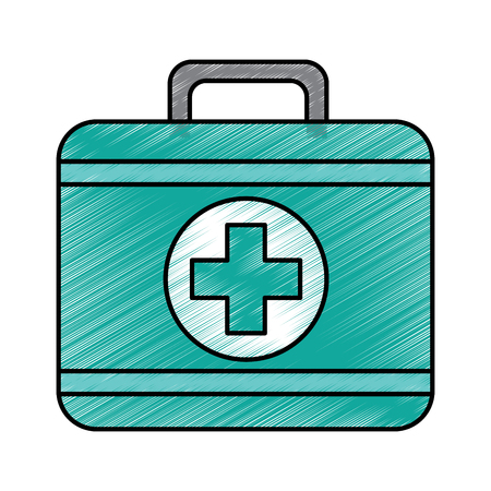 first aid kit icon image vector illustration design  向量圖像