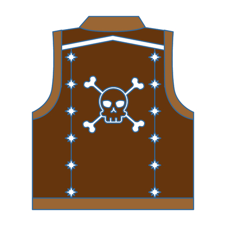 motorcyclist vest with skull icon vector illustration design