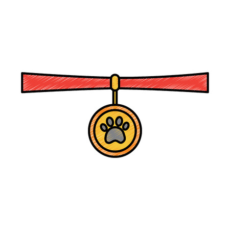 Pet necklace vector illustration Illustration