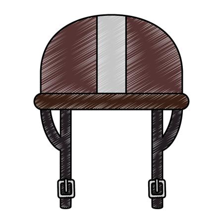 motorcycle helmet classic icon vector illustration design Illustration