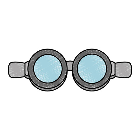 biker goggles isolated icon vector illustration design Illustration