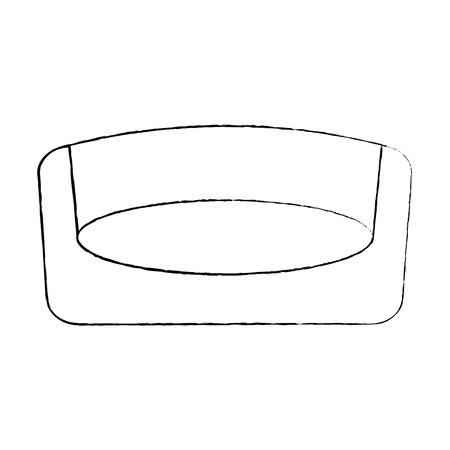 ペットベッド寝台取り外し可能なマットベクトルイラスト  イラスト・ベクター素材