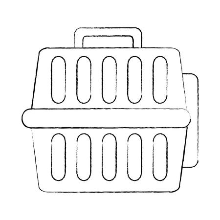 pet travel carrier accessory transport vector illustration