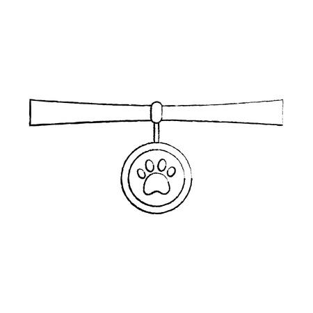 pet necklace medal identity animal vector illustration 일러스트