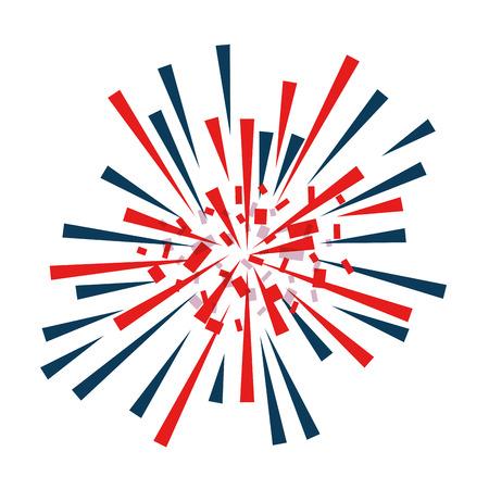 Fireworks explosion decorative frame vector illustration design Banco de Imagens - 92277660