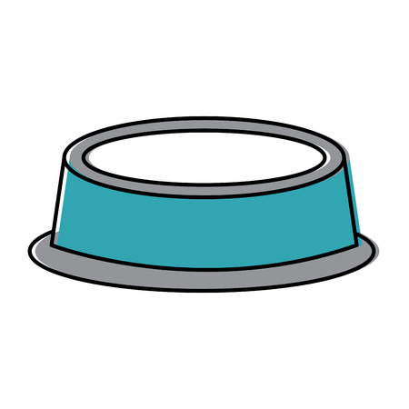 Empty bowl food pet accessory icon vector illustration