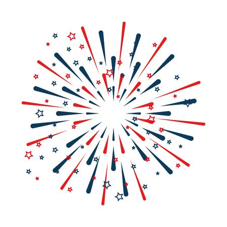 Fireworks explosion decorative frame vector illustration design