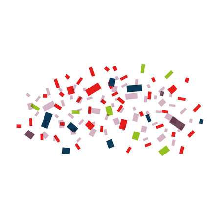 Explosion of paper confetti vector illustration design