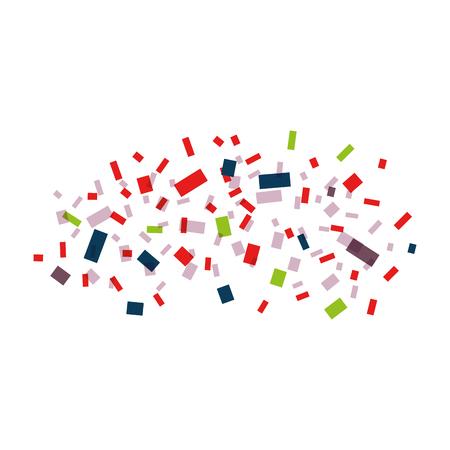 Explosion of paper confetti vector illustration design