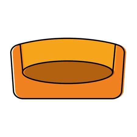 애완 동물 침대 침대 패드 이동식 매트 벡터 일러스트 레이션 스톡 콘텐츠 - 92278112