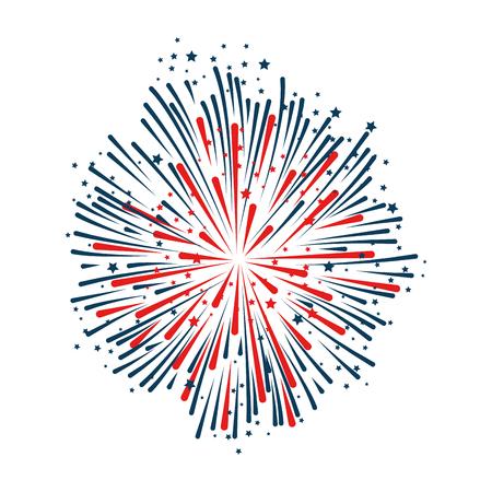 Fireworks  decorative frame illustration design. Illustration