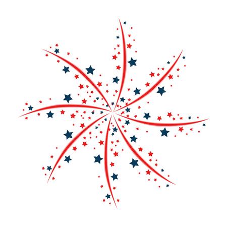 Fireworks decorative frame illustration design.