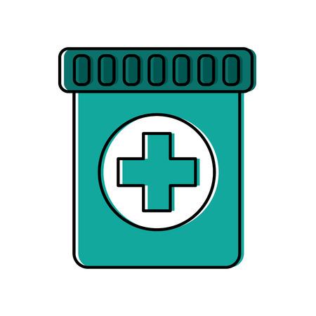 Medical bottle illustration. Иллюстрация