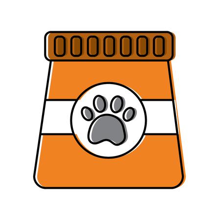 Package food pet animal nutrition illustration.