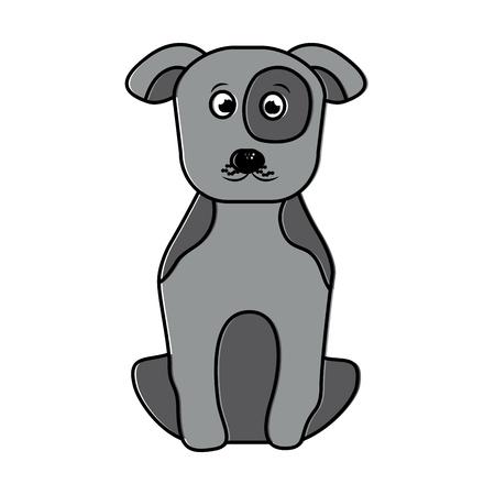애완 동물 강아지 앉아 동물 국내 그림입니다.
