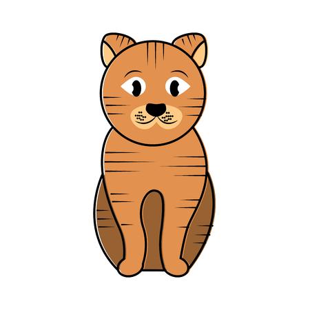 Animal sitting pet animal domestic illustration. Stock Vector - 92279448