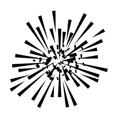 Progettazione decorativa dell'illustrazione di vettore della struttura di esplosione dei fuochi d'artificio Archivio Fotografico - 92277320