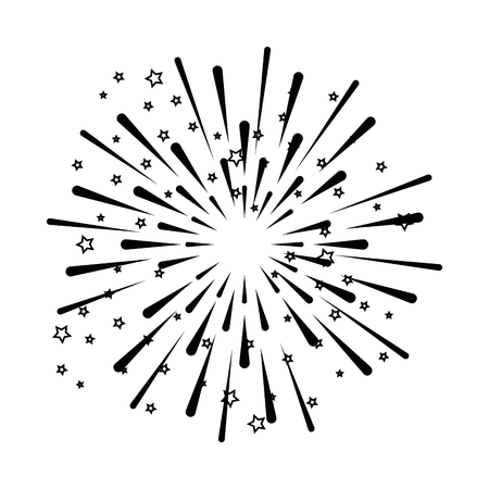 fireworks explosion decorative frame vector illustration design Banco de Imagens - 92277324