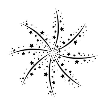 fireworks explosion decorative frame vector illustration design Illustration