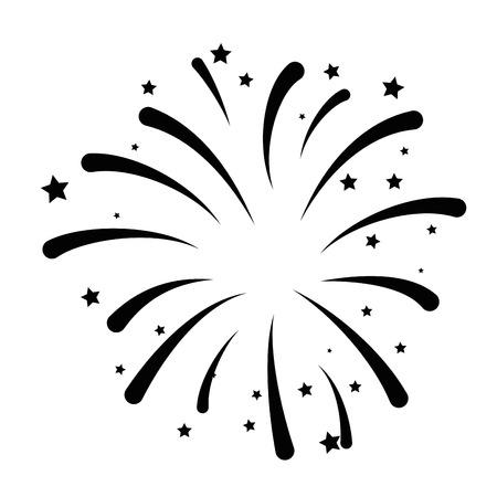 feux d'artifice explosion cadre décoratif vector illustration design
