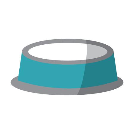 empty bowl food pet accessory icon vector illustration Illustration