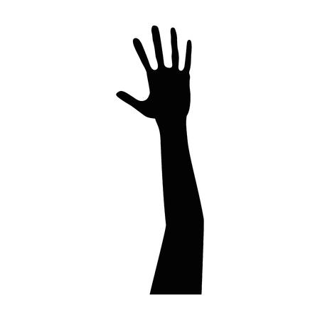 hand up silhouette icon vector illustration design Ilustracja