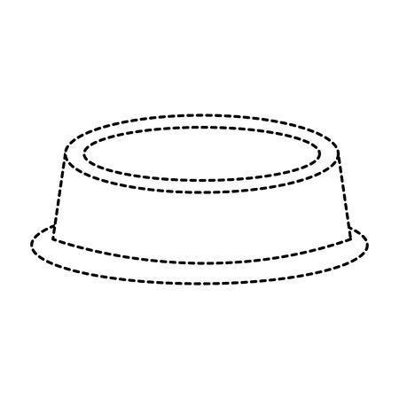 Empty bowl food pet accessory icon illustration.