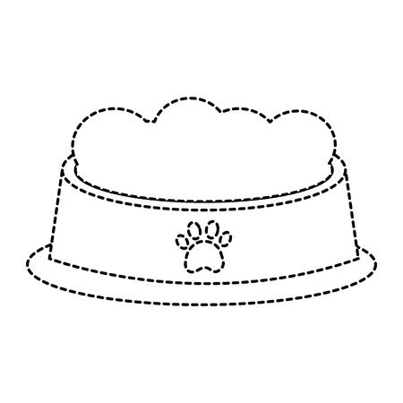 Pet bowl with food diet nutrition illustration. Imagens - 92279557