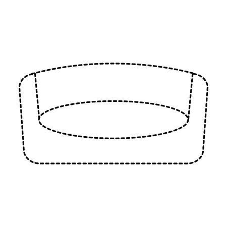 huisdier bed slaapmat verwijderbare mat vectorillustratie