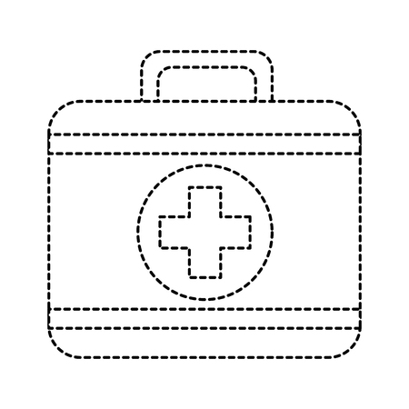 First aid kit medical equipment icon illustration. 向量圖像