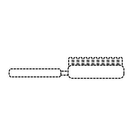 Borstel huisdier accessoire schoon pictogram illustratie.