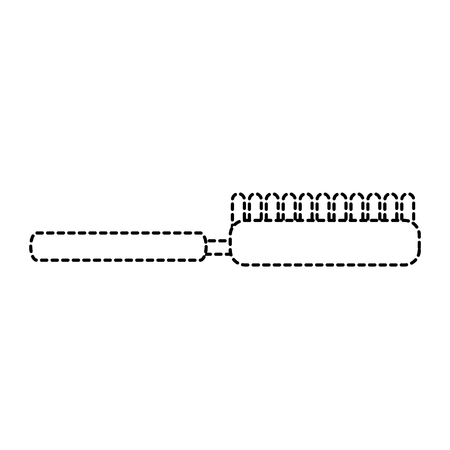 Brush pet accessory clean icon illustration. Ilustração