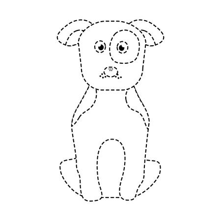 pet dog sitting animal domestic vector illustration Illustration
