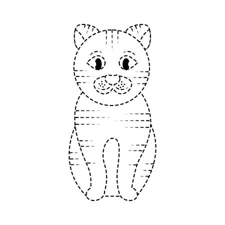 Chat assis illustration vectorielle domestique animal de compagnie Banque d'images - 92278572