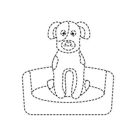 Chien de compagnie assis illustration vectorielle domestique animal Banque d'images - 92279224