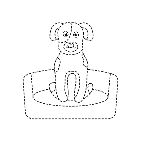 Pet dog sitting animal domestic vector illustration