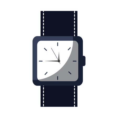 wristwatch accessory time fashion icon vector illustration