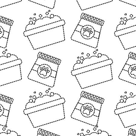 Nourriture pour animaux de compagnie et toilettage illustration vectorielle motif sans soudure Banque d'images - 92281369