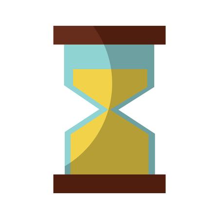 hour glass clock business time vector illustration Illustration