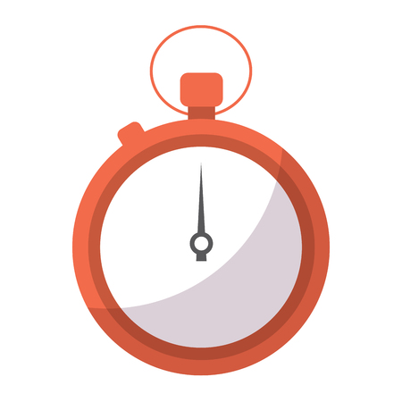 Clock time stopwatch business icon vector illustration Illustration